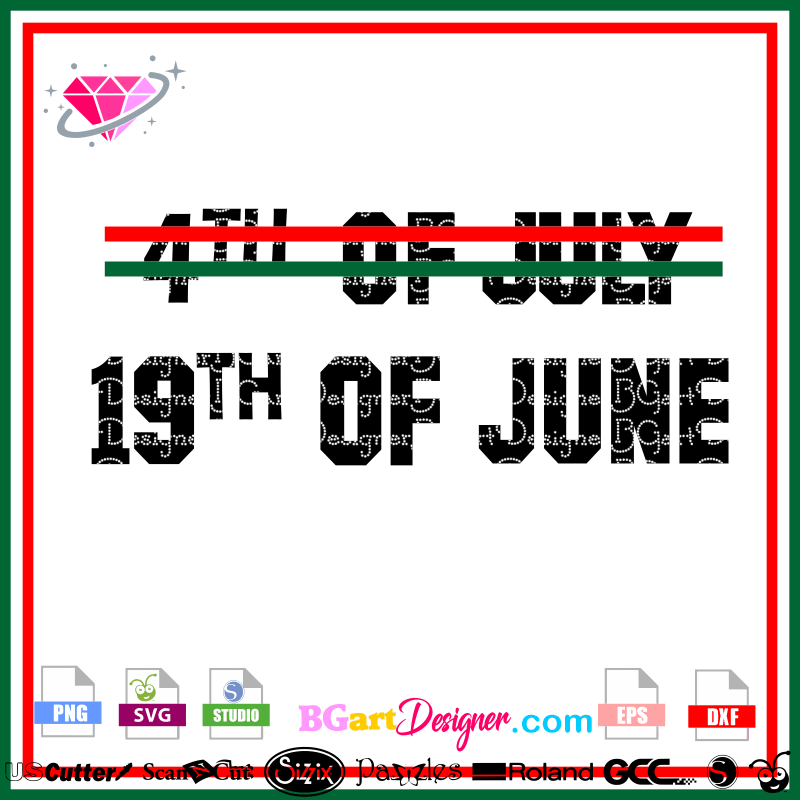 Lllᐅ19th June Juneteenth Svg Black History Month Cricut Cut File