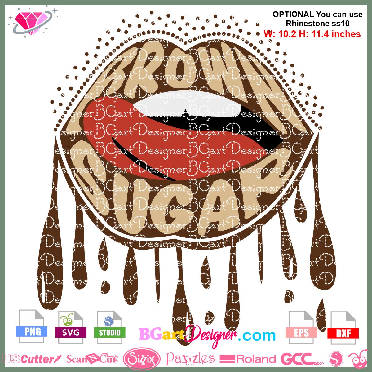Lllᐅ Brown Sugar Lips Svg Glitter Layer Design Svg Cricut Silhouette