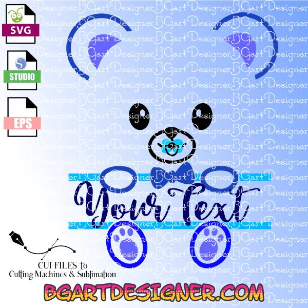 Lllᐅteddy Bear Split Monogram The Best Cut Files Cricut Cameo