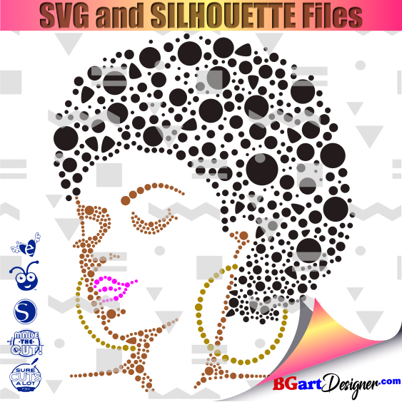 Girl afro svg black Afro Queen