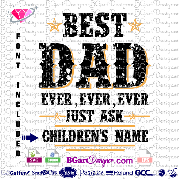5bbef47b lllᐅfathers day SVG, Best Dad - Bgartdesigner: The best cut files