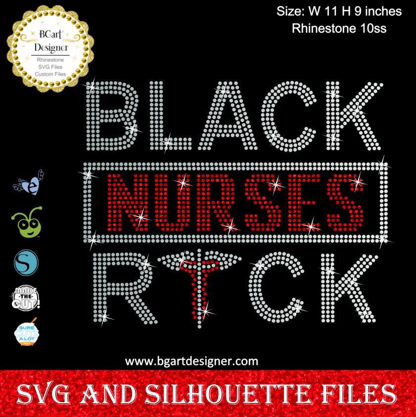 Nurse Christmas Svg.Black Nurses Rock