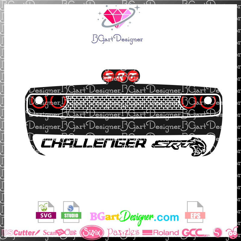 lllᐅdodge challenger srt svg the best cut files cricut dodge challenger srt svg