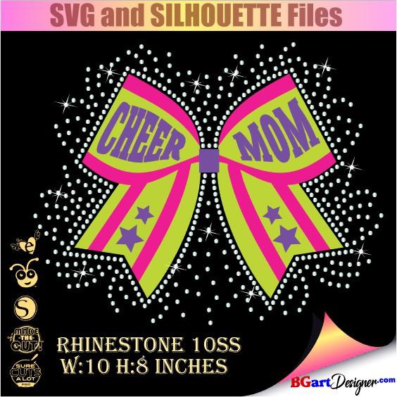 Lllᐅcheer Mom Bow Svg Bgartdesigner Cricut And Silhouette Designs