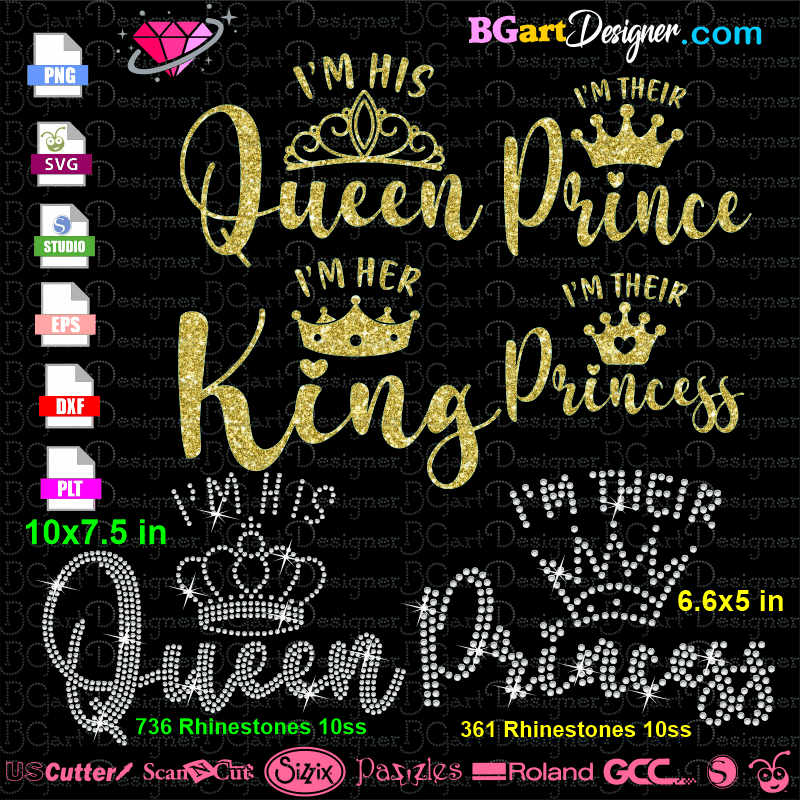 Free Queen King Prince Princess Svg Cut File Best Free Svg