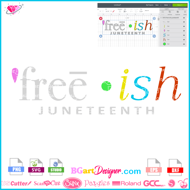 Lllᐅfree Ish Juneteenth Svg Black History Month Cricut Cut File