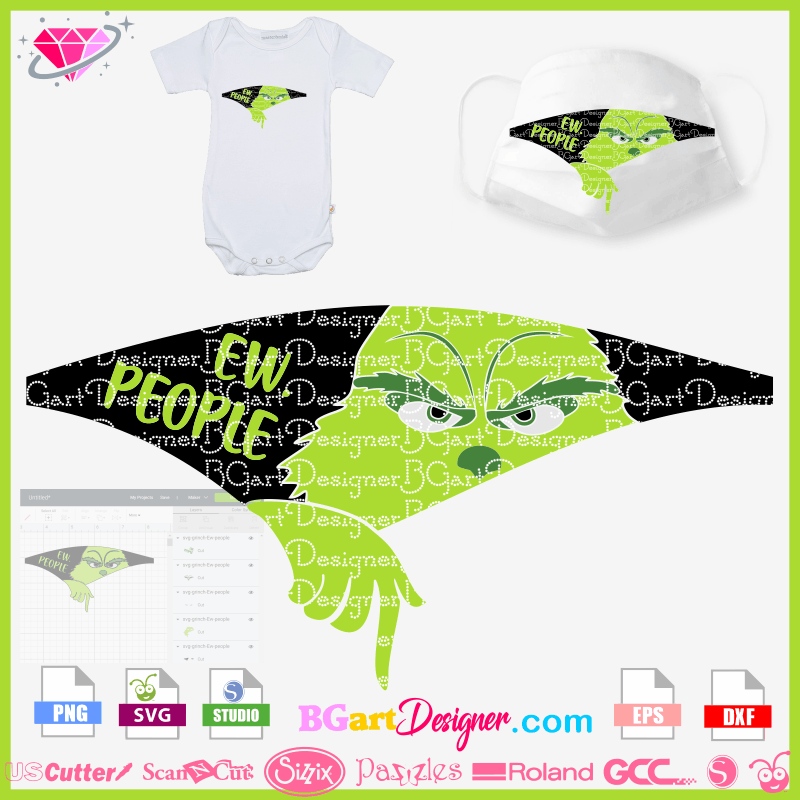 Lllᐅ Download Grinch Ew People Layer Design Cricut Silhouette
