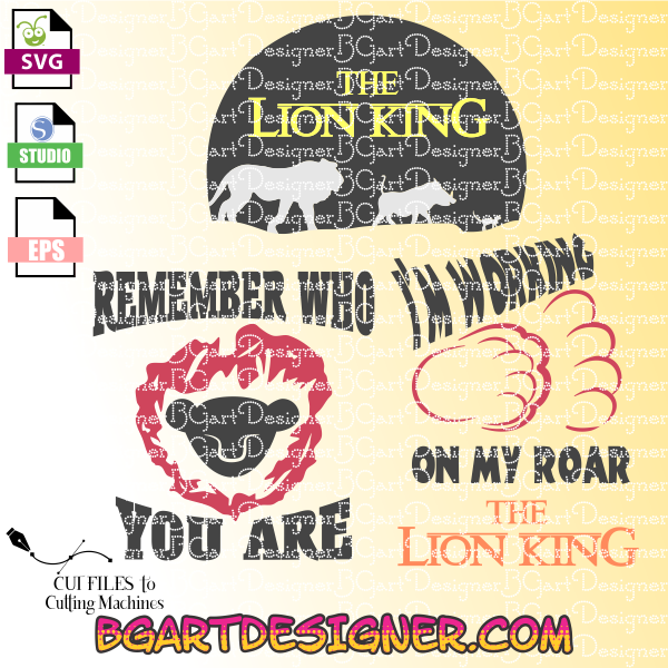 Lion king svg cut file