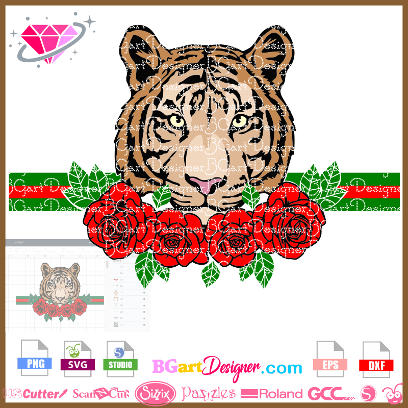 Lllᐅtiger Rose Bouquet Svg Awesome Svg Cricut Silhouette