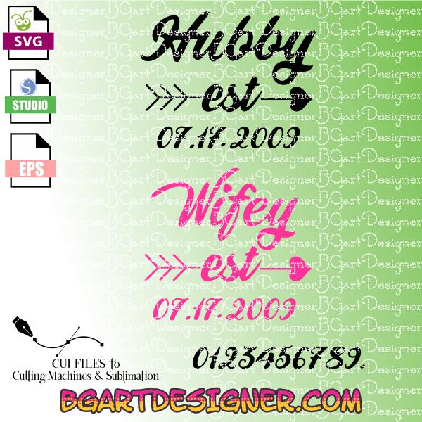 Lllᐅwifey Hubby Svg The Best Cut Files Cricut Cameo