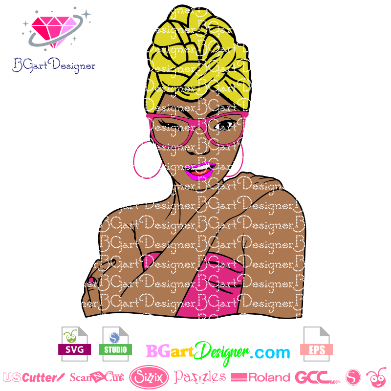 Lllᐅblack Woman Headwrap Svg The Best Cut Files Cricut